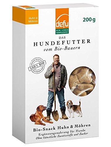 defu Hund Bio-Snack Huhn & Möhren (Hund Huhn, Cookie)