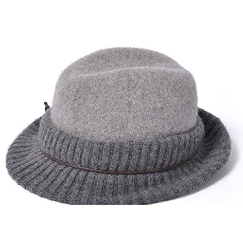 Cappello di lana di piegatura di primavera/Ladies maglia cappello/Cappello della