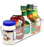 greenco Kühlschrank und Gefrierschrank schmal Lagerplatz mit Griffen 36,8x 8,9x 9,5cm klar