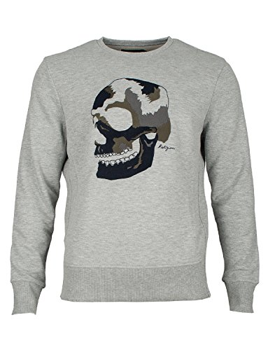 Religion Herren Sweatshirt Big Skull Embro-XL