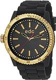 Edc Damen-Armbanduhr Rubber Starlet - Midnight Black Analog Quarz Silikon EE100922004