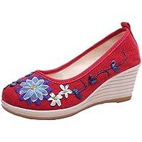 TWBB Damen Kuh Sehne Gestickte Schuhe Hang Ethnischen Stil Schuhe in EU Größe 34-39