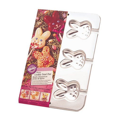 Wilton BUNNY Rabbit Novelty 6 Cavity Cookie Treat Baking Pan Tray Easter Cake Easter Bunny Cake Pan