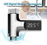 Temperature Douche,Pawaca, Temperature eau Douche, thermomètre numérique à l'eau de douche...