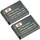 DSTE 2-Pack Rechange Batterie pour Samsung SLB-10A P800 P1000 PL50 PL51 PL55 PL60 PL65 PL70 SL102 SL202 SL310 SL420 SL502 SL620 SL720 SL820 TL9 WB150F WB250F WB350F WB500 WB550 WB750 WB800F WB850F WB1100F WB2100