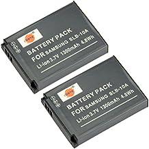 DSTE 2-Pacco Ricambio Batteria per Samsung SLB-10A P800 P1000 PL50 PL51 PL55 PL60 PL65 PL70 SL102 SL202 SL310 SL420 SL502 SL620 SL720 SL820 TL9 WB150F WB250F WB350F WB500 WB550 WB750 WB800F WB850F WB1100F WB2100