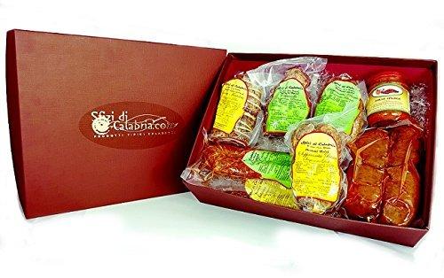 La valigia del calabrese con 8 grandi salumi artigianali - cesti regalo prodotti tipici di qualità