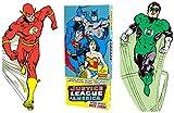 Justice League of America carte de voeux en boîte-Die Cut Silhouette Cartes d'Aquaman, Batman, le Flash, Green Lantern, Martian Manhunter, Superman, Wonder Woman