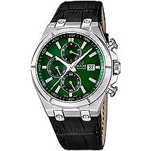 Jaguar j667/3 - Reloj de caballero, caja acero, multifuncion, correa en piel
