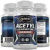 L-Carnitin Extra Stark - 250 Tabletten - 2000mg Tagesdosierung - 100% Acetyl L-Carnitine - 62 Tage Kur - Stärkste L-Carnitine Form - Premium Qualität