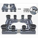 Abnehmbare multifunktionales Möbel dolly Rolle basierte Teleskop verstellbar Mit rotierenden feststellbaren Rollen, stabilen Stahlrahmen für Trockner, Waschmaschinen und Kühlschränke (18)