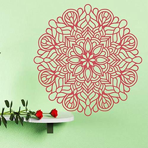 zhuziji Boho Mandala Blume Wandtattoos Lotus Decor Yoga Zimmer Aufkleber Bohemian Zimmer Vinyl Wandaufkleber Schlafzimmer Dekor Accessories42x43cm