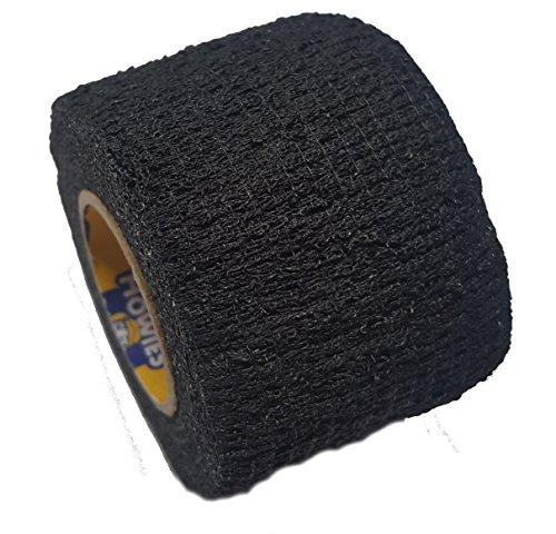 Howies Schlägertape Profi Stretch Grip Hockey-Tape, Griptape (schwarz)