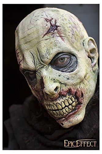 Epic Armoury 51422150 Open Brain Zombie-Grey-57-59 cm Maske, Unisex Erwachsene, - Bogenschießen Halloween Kostüm