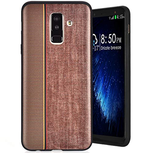 MeganStore Coque Galaxy A6 Plus 2018 Silicone, Ultra Mince Leger Silicone TPU Doux Etui Anti-Choc Anti-Rayures Antidérapant Housse pour For Samsung Galaxy A6 Plus 2018, Marron