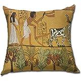 Tomba egizia Pittura Cuscino Federa Federa Federa Federa Importata Quadrato