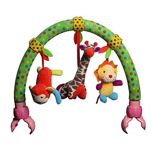 iStary Baby Spielzeug Arch Kinderbett Spielbogen Weich Plüsch Spielzeug Clip Bett Lovely Aufhängen Plüsch Tier Für Baby Aufhängen Tiere Arch Quietschen/Rassel/Beißring -