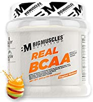 Bigmuscles Nutrition Real BCAA [50 Servings, Tropical Madness] -100% Micronized Vegan, Muscle Recovery & E
