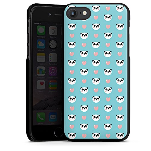 Apple iPhone X Silikon Hülle Case Schutzhülle Panda Cartoon Muster Hard Case schwarz
