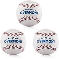 Overmont Softball Baseball Softball Synthetic Leather, White