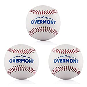 Overmont Baseball Training Ball Anfänger Baseballbälle Softball Weiß
