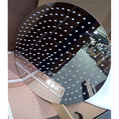 Gigante soffione 40cm rotondo con 253Ugelli acciaio inox lucidato di