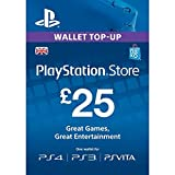 GBP25 Sony Playstation Network Card PSN UK (PlayStation Vita/PS3/PS4) (New)