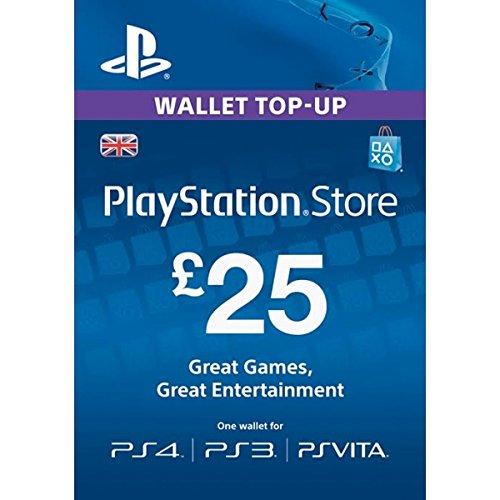 Ps4 Gift Psn Card (GBP25 Sony Playstation Network Card PSN UK (PlayStation Vita/PS3/PS4) (New))
