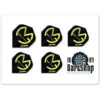 5 sets de dardos de Michael van Gerwen, 15unidades, negro-verde
