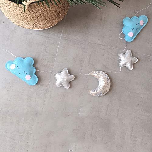 Sterne Mond Wolken Regenbogen Wassertropfen Anhänger Hängende Ornamente Für Kinder Baby Schlafzimmer Spielen Krippe Zelt Dekoration