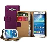 Membrane - Violet Portefeuille Etui Coque Samsung Galaxy Grand Neo (GT-i9060, GT-i9060DS, GT-i9060L) - Wallet Flip Case Cover Housse