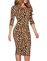 Dissa® Deman Leopard SY6560 midi kleid