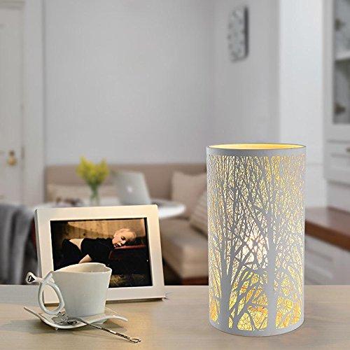 BBSLT Bambini trafitto inciso scrivania lampada bianco in ferro battuto Lampade lampada regalo regalo lampada da tavolo