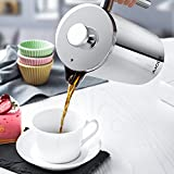from Aicok Aicok Cafetire, French Press, Coffee Press, Double Walled Stainless Steel Construction with 1 Coffee Measuring Spoon and 5 Pieces Additional Replacement Filter Screen - 1 Liter / 34 Ounce Model HK-CP103