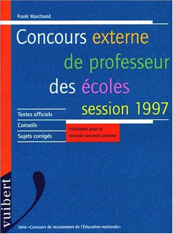 Concours externe de professeur des écoles, session 1997, 6e édition