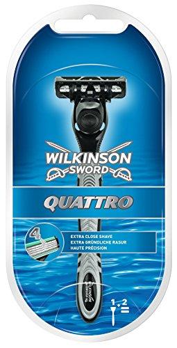 Wilkinson Sword - Quattro, Rasoio comprensivo di 2 lame