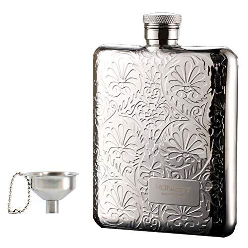 Portable 6OZ Hip Flask with Funn...