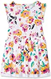 NAME IT Mädchen Kleid NMFVALAIA Spencer WL, Mehrfarbig (Bright White AOP: Big Flowers), 110