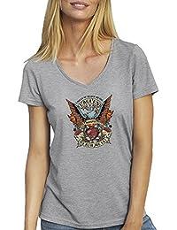 Eagles Of Death Metal Color T-Shirt camiseta Cuello V para la Mujer