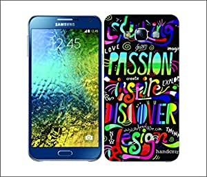 Galaxy Printed 2387 Mix Typo Hard Cover for Samsung E5
