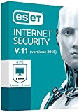 ESET INTERNET SECURITY v.11.1 2018 4PC / 1 AÑO + 6 MESES GRATIS (EXP NOVIEMBRE 2019) - Licencia ESD enviada a través de Communication Email Amazon - (SIN ENVÍO CD / DVD) ** Consulte las comunicaciones de AMAZON **