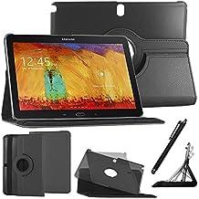 ebestStar - pour Samsung Galaxy Tab Pro 10.1 SM-T520 T525 - Housse Coque Etui PU cuir Support rotatif 360° + Stylet tactile, Couleur Noir [Dimensions PRECISES de votre appareil : 243.1 x 171.4 x 7.3 mm, écran 10.1'']