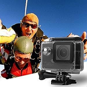 XCSOURCE Ultra 4K 170°A+ HD Grand Angle 16MP WiFi Action Caméra Embarquée Sport Caméra 30M Étanche Vélo Moto Voiture Casque DV Caméscope Avec 2'' LTPS LCD Écran Noir LF720