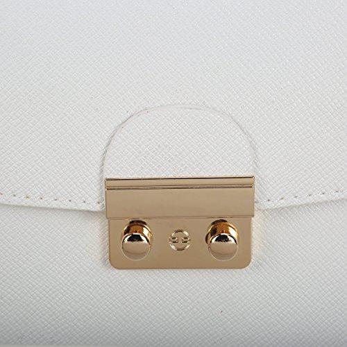 9c843fbbecebd ... Kleine Umhängetasche Schultertasche Schulterkette Elegant Handtasche  Vintage Tasche Kette Band Retro Citytasche - Schwarz Weiß ...