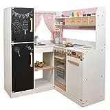 SUN Kinderküche Paris XXL aus Holz, rosa-weiss