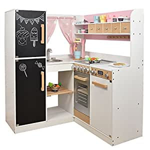 sun kinderk che paris xxl aus holz rosa weiss. Black Bedroom Furniture Sets. Home Design Ideas