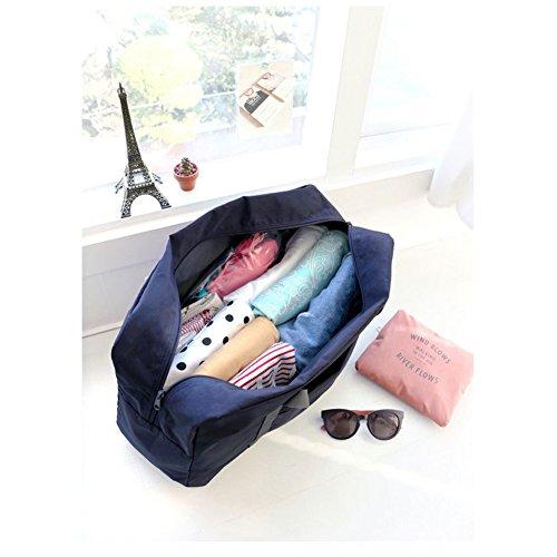 FunYoung Superleichtes Tragbares Handgepäck Faltbare Reisetasche aus Polyester Farbwahl (Schwarzblau) Schwarzblau