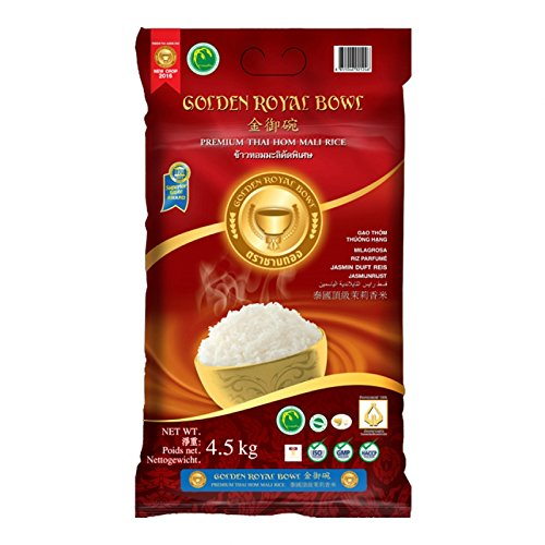 Jasmin Duft Reis - Premium Thai Hom Mali Rice - Golden Royal Bowl 4,5kg Golden Rice Bowl