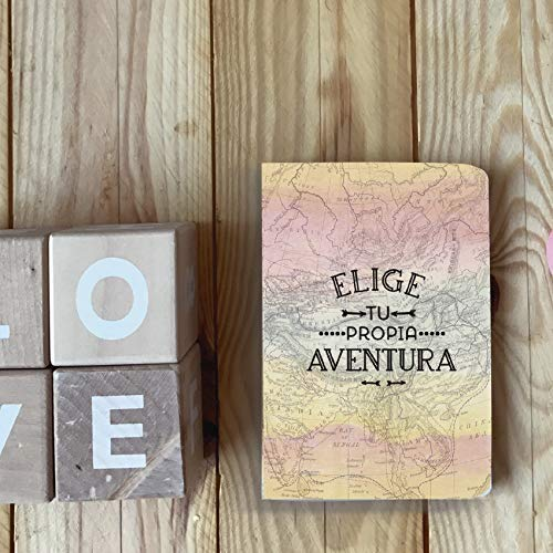 Pack de 7 cuadernos tamaño A6, 7 frases inspiradoras, 48 páginas, hojas en blanco, offset 90gr.