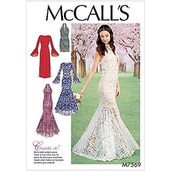 Unbekannt McCall \'s Damen Schnittmuster 7320 Meerjungfrau Saum ...